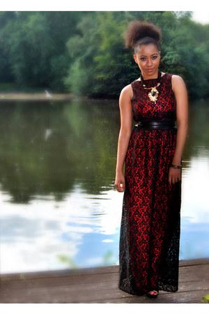 Boohoocom dress - new look shoes - H&M necklace