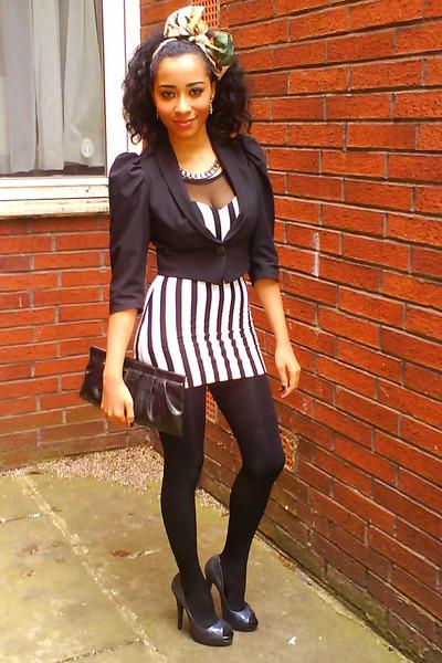 White H&m Dress Black