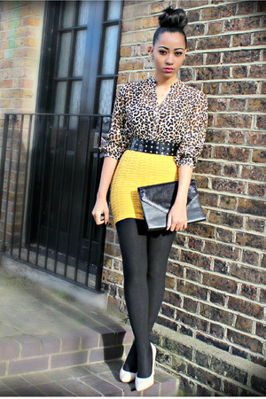 Primark shoes - vintage bag - H&M top