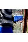 Black-unknown-scarf-blue-unknown-shoes-blue-bershka-dress