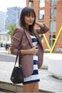 H-m-dress-brown-zara-shoes-light-brown-h-m-blazer-dark-brown-richmond-bag