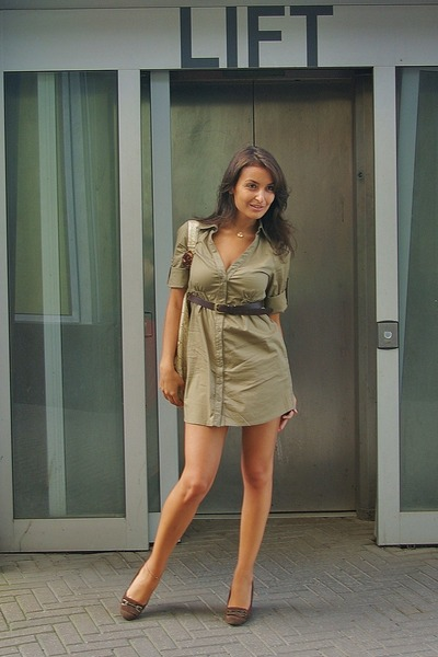 40d2dceb Tally Weijl dress - brown Zara shoes - brown Mango belt - H&M purse -  swarovski