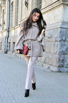 black boots - brick red Charles & Keith bag - light pink H&M pants