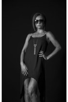 black Lucky B Boutique dress - brown sunglasses Lucky B Boutique sunglasses