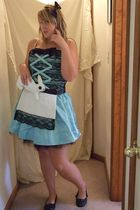 blue Luckiest Clothing dress - white Luckiest Clothing purse