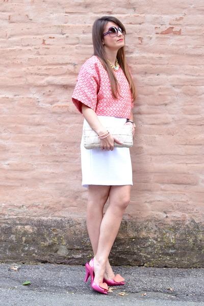 bubble gum Gaelle Bonheur dress - light pink Miu Miu bag