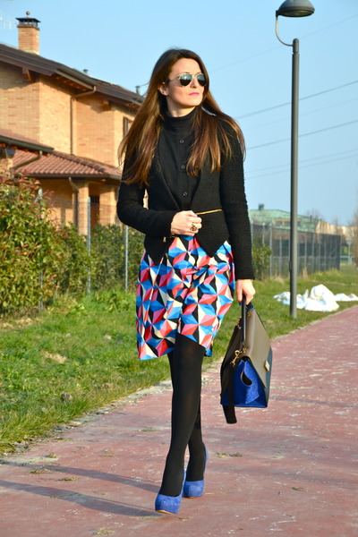MSGM skirt - Celine bag - chiara ferragni pumps