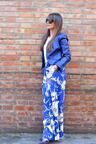 blue PERSUNMALL jacket - blue Zara pants - blue Valentino heels