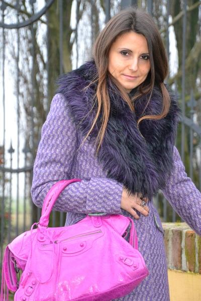 Amethyst Sisley Coat Hot Pink Balenciaga Bag