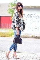 sky blue Pepe Jeans jeans - deep purple Louis Vuitton bag