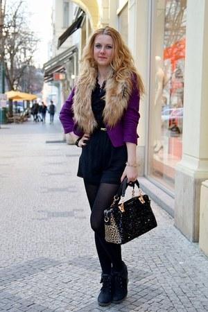 PERSUNMALL purse - H&M blazer - H&M scarf - H&M romper