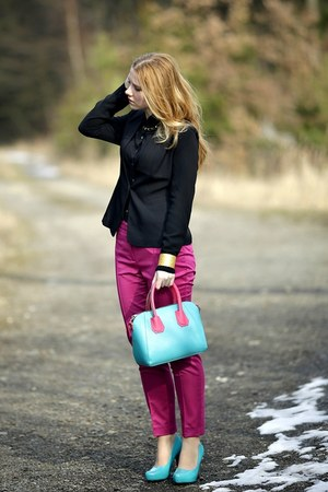 chicnova bag - Zara pants