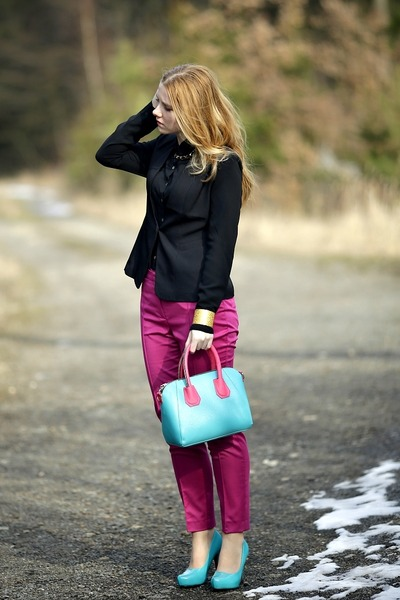 chicnova bag - Zara pants