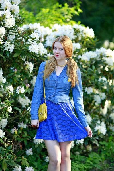 Mimi Boutique bag - Charlotte Russe dress - clockhouse shirt