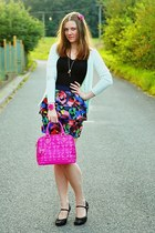 humanic shoes - Domi bag - H&M skirt - New Yorker top - Bershka cardigan