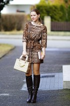 5th Avenue boots - H&M dress - OASAP bag