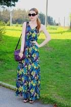 maxi H&M dress - reno shoes - reno purse - c&a sunglasses - Tally Weijl necklace