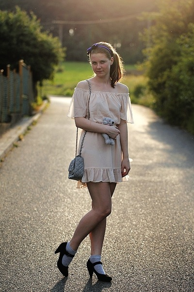 CCC shoes - H&M dress - Chanel bag - Tally Weijl socks