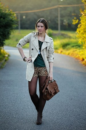 Zara bag - humanic shoes - Terranova coat - H&M shirt - New Yorker shorts