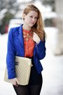Blue-jannis-blazer-carrot-orange-h-m-shirt-tan-bershka-bag