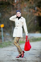 ruby red bought in shop in Marinske Lzne shoes - beige Terranova coat - red bag