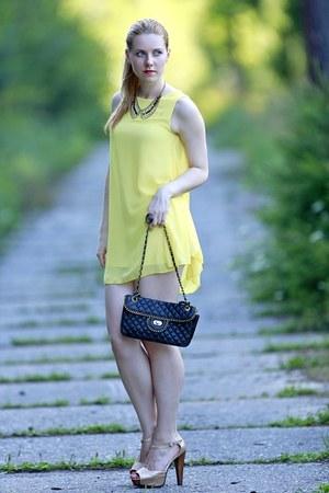 yellow chicnova dress - Body Central heels
