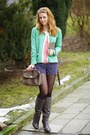 5th-avenue-boots-new-yorker-bag-new-yorker-shorts-h-m-cardigan