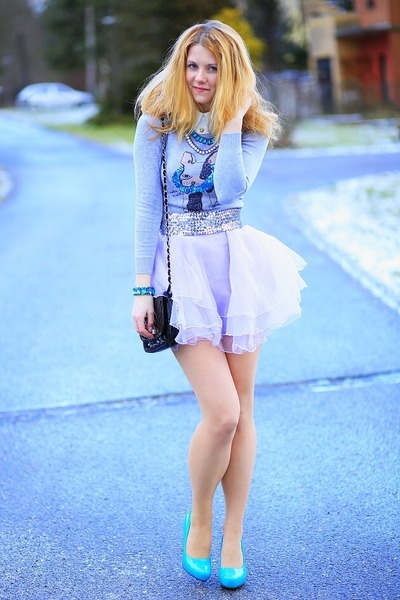 turquoise blue shoes - periwinkle sammydress dress
