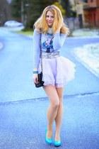 turquoise blue shoes - periwinkle sammydress dress