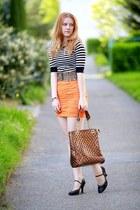 Zara skirt - Domi bag - SIX belt - H&M top