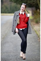 Ann Christine coat - Body Central shoes - Forever 21 sweater
