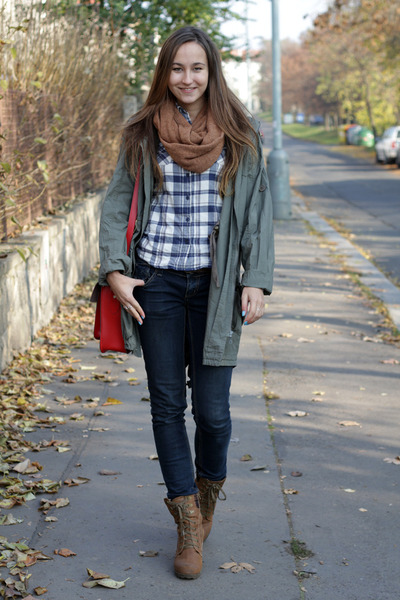 Forest Green Jackets Navy Stradivarius Jeans Red Romwecom Bags