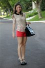 Red-zara-shorts-black-celine-bag-cream-zara-blouse-black-miu-miu-heels