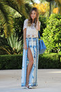 Blue-prada-bag-blue-bcbg-pants-ivory-lf-top-nude-louboutin-heels