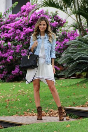 black YSL bag - brown Zara boots