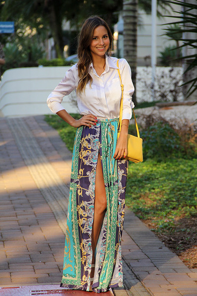 White Luisa Accorsi Shirts, Yellow Celine Bags | \u0026quot;Scarf Print\u0026quot; by ...