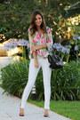 Black-louboutin-shoes-white-zara-jeans-hot-pink-elizabeth-james-shirt