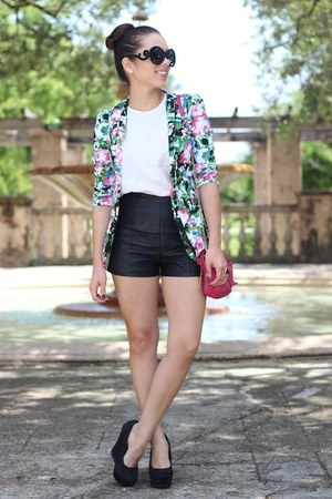 black furor moda sunglasses - floral blazer Beginningboutique blazer