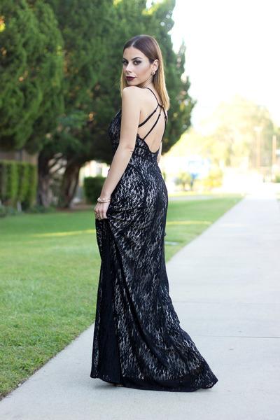 black lace lulus dress