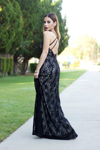 black lace lulus dress