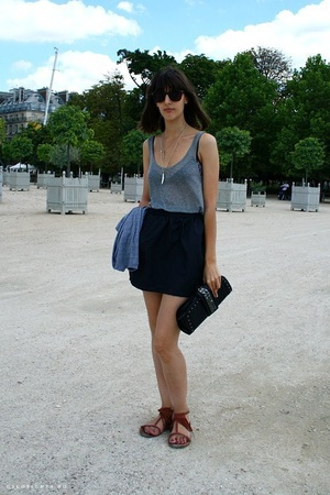 Isabel Marant top - American Apparel skirt - Zara purse - Urban Outfitters shoes