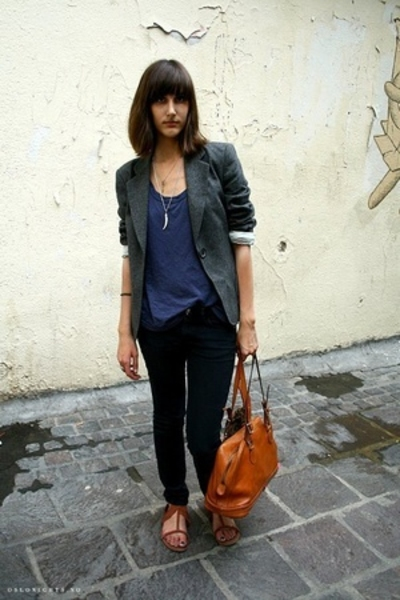 Et Vous jacket - Gap t-shirt - vintage purse - Urban Outfitters shoes