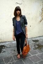 Et Vous jacket - Gap t-shirt - vintage purse - Urban Outfitters shoes