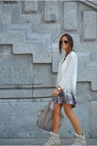 beige Zara dress - beige Marc by Marc Jacobs bag - beige Isabel Marant sneakers