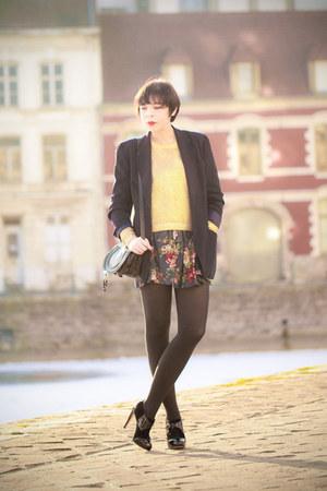 poirot Charlotte Olympia heels - H&M sweater - Chloe bag
