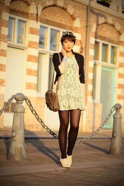 asos dress - La Redoute jacket - CDC bag - Topshop heels
