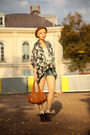 Zara-shoes-claires-hat-chloe-bag-zara-shorts-kimono-topshop-blouse