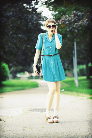 Zaraa shoes - gerard darel dress - Topshop sunglasses