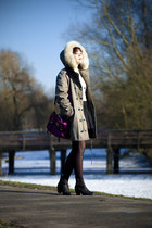 parka Marc by Marc Jacobs coat - pistol acne boots - Mulberry bag