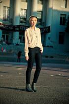 glitter Giuseppe Zanotti boots - slim Levis jeans - American Apparel shirt